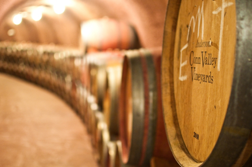 conn valley wine barrels